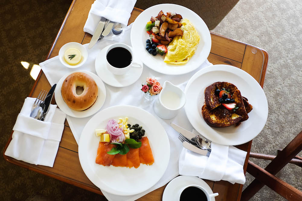 The Wequassett Resort and Golf Club Room Service Breakfast