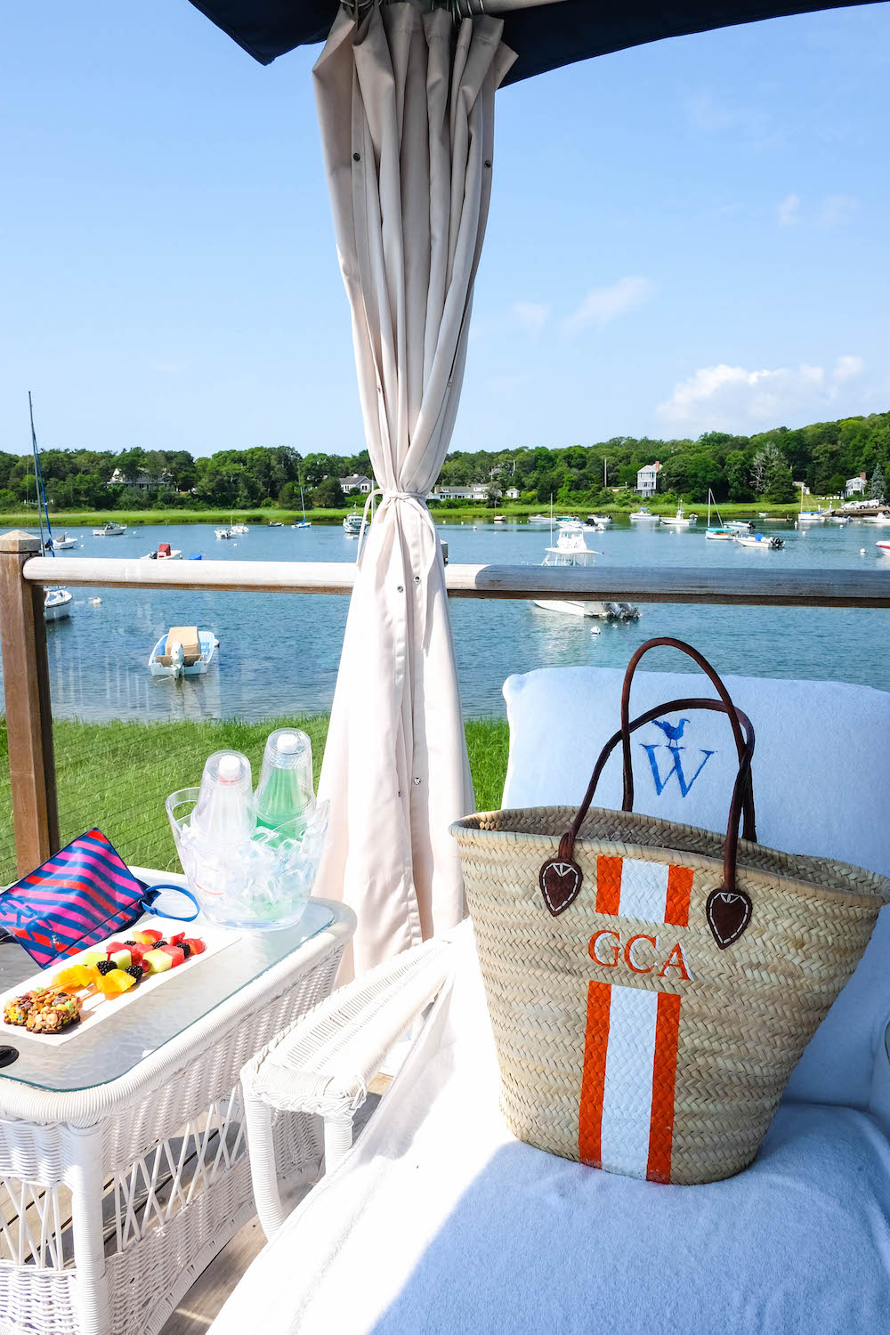 The Wequassett Resort and Golf Club - Poolside Cabana, Lindroth Design Tote