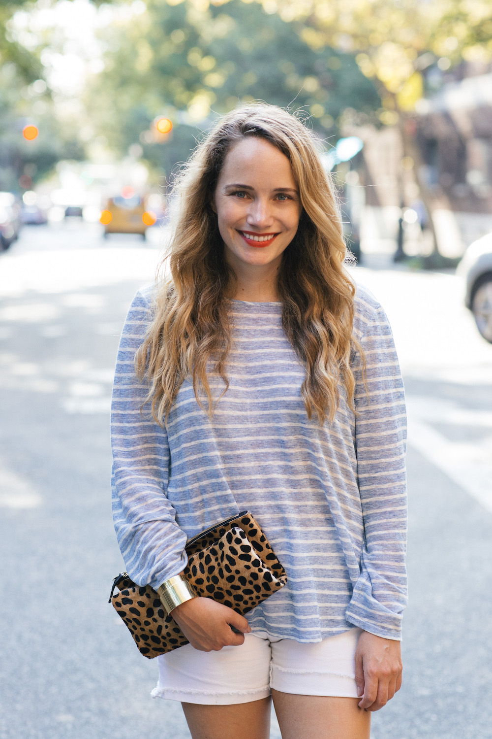 CCH Collection Striped Sweater + J.Crew Factory Cutoff Shorts - Grace Atwood, The Stripe
