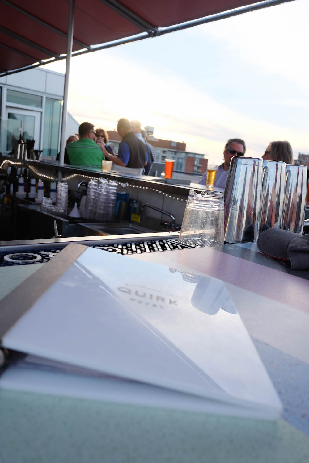 The Quirk Hotel Richmond VA. Grace Atwood The Stripe // Rooftop Bar Downtown Richmond