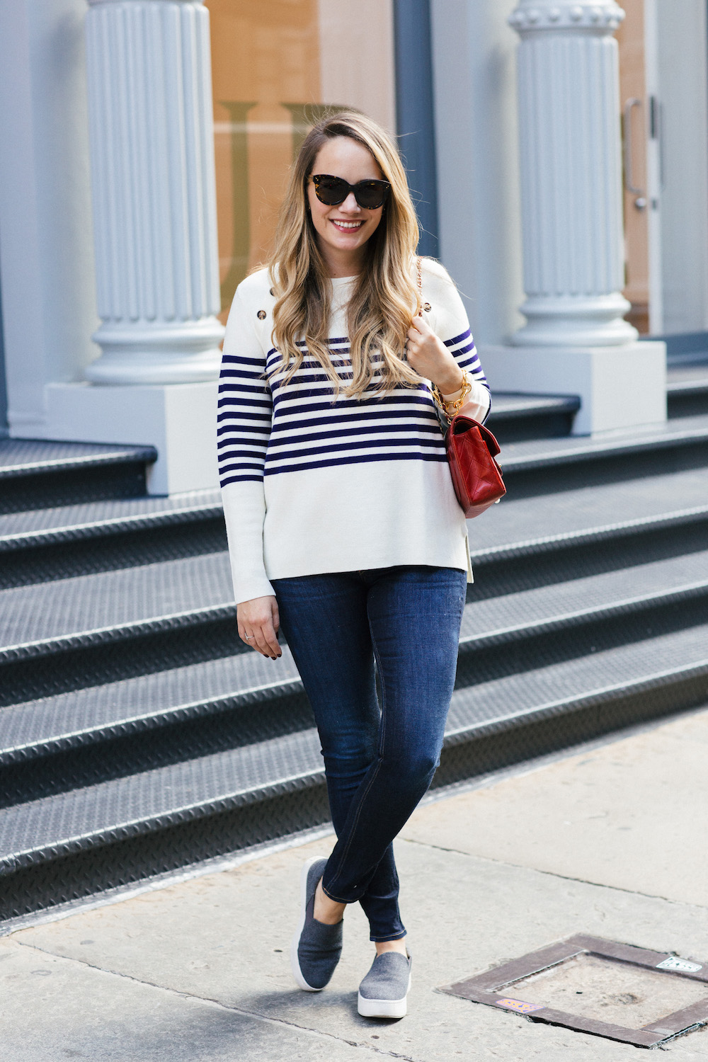 Vineyard Vines Striped Sweater - Grace Atwood, The Stripe