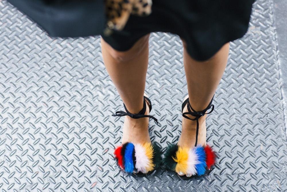 Tibi Belle Dress, Loeffler Randall Nicolette Sandals // Grace Atwood, The Stripe