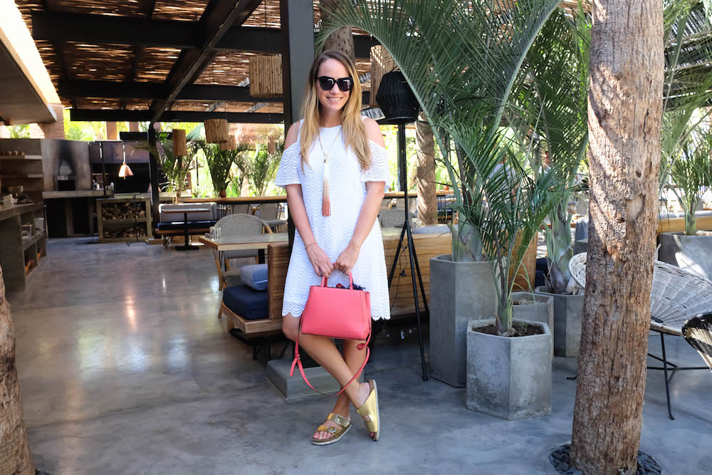 Los Cabos Mexico Travel Diary | Grace Atwood, The Stripe | Acre Restaurant | Lilly Pulitzer White Dress