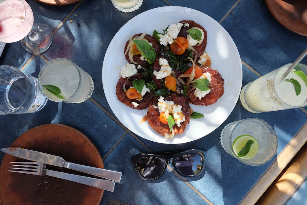 Los Cabos Mexico Travel Diary | Grace Atwood, The Stripe | Acre Restaurant Fried Tomatoes, Farm-to-Table Cuisine