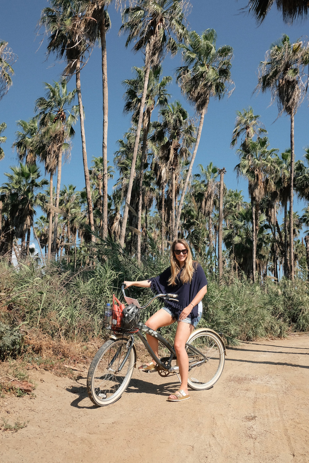 Los Cabos Mexico Travel Diary | Grace Atwood, The Stripe | El Ganzo Hotel Bike Riding to the Beach Club