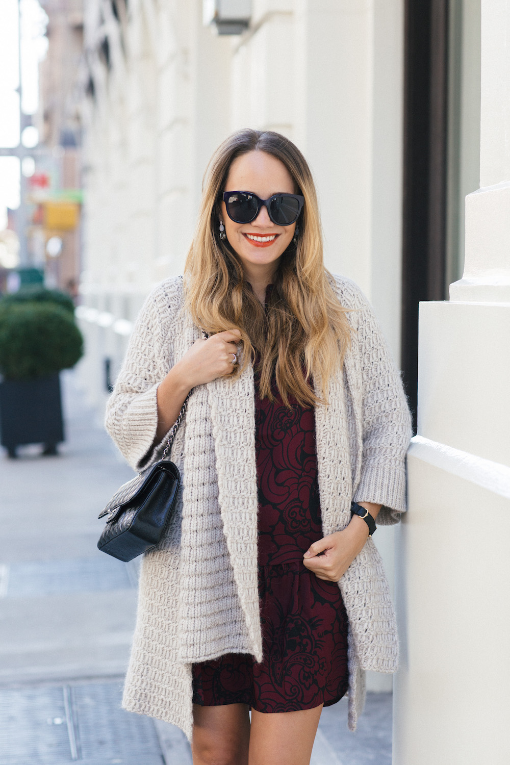 Easy Holiday Outfit Ideas with LOFT - Grace Atwood, The Stripe