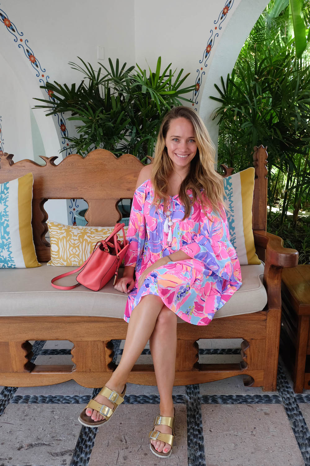 One&Only Palmilla Beach Area - Cabo | The Stripe Los Cabos Travel Diary - 2016 Los Cabos Film Festival (Grace Atwood wearing the Lilly Pulitzer Allana Off the Shoulder Dress)