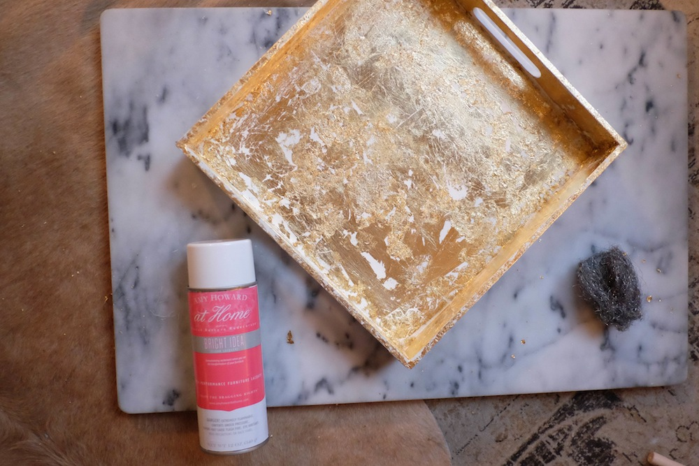 DIY Gilded Tray // Grace Atwood, The Stripe.