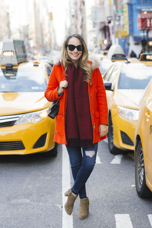 J.Crew Chateau Parka, Sanctuary Denim - Cozy Winter Outfit Idea - Grace Atwood, The Stripe