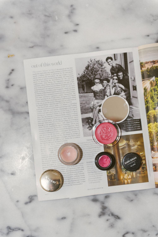 my favorite fancy lip balms // best lip balm reviews - by terry baume de rose, kari gran lip whip, supergoop perk up! lip & cheek treat