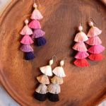 DIY Multicolor Tassel Earrings.