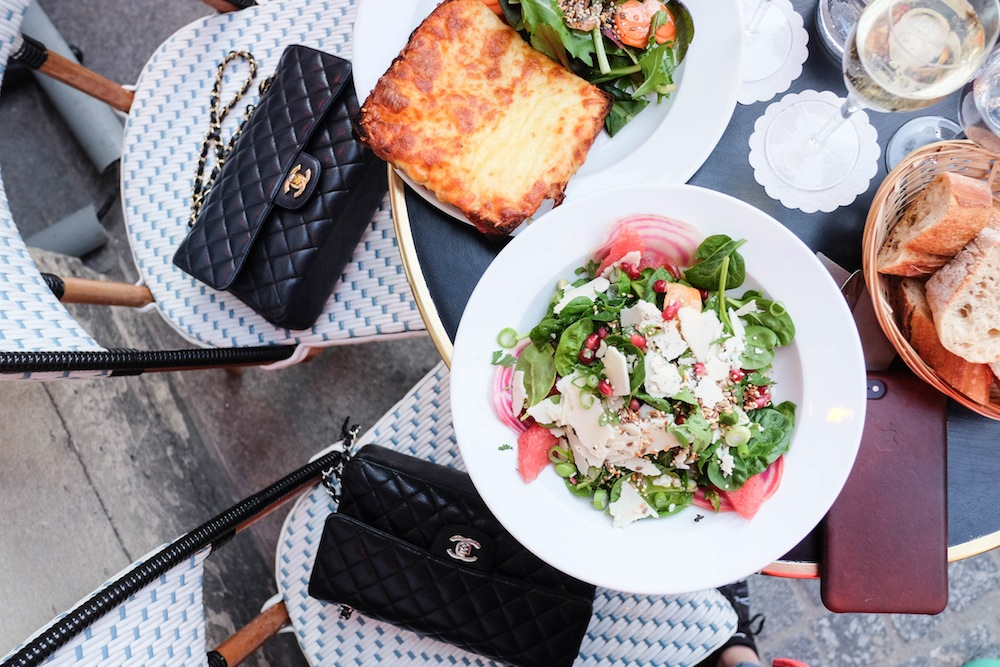 lunch at palais royale // 48 hours in paris, the stripe