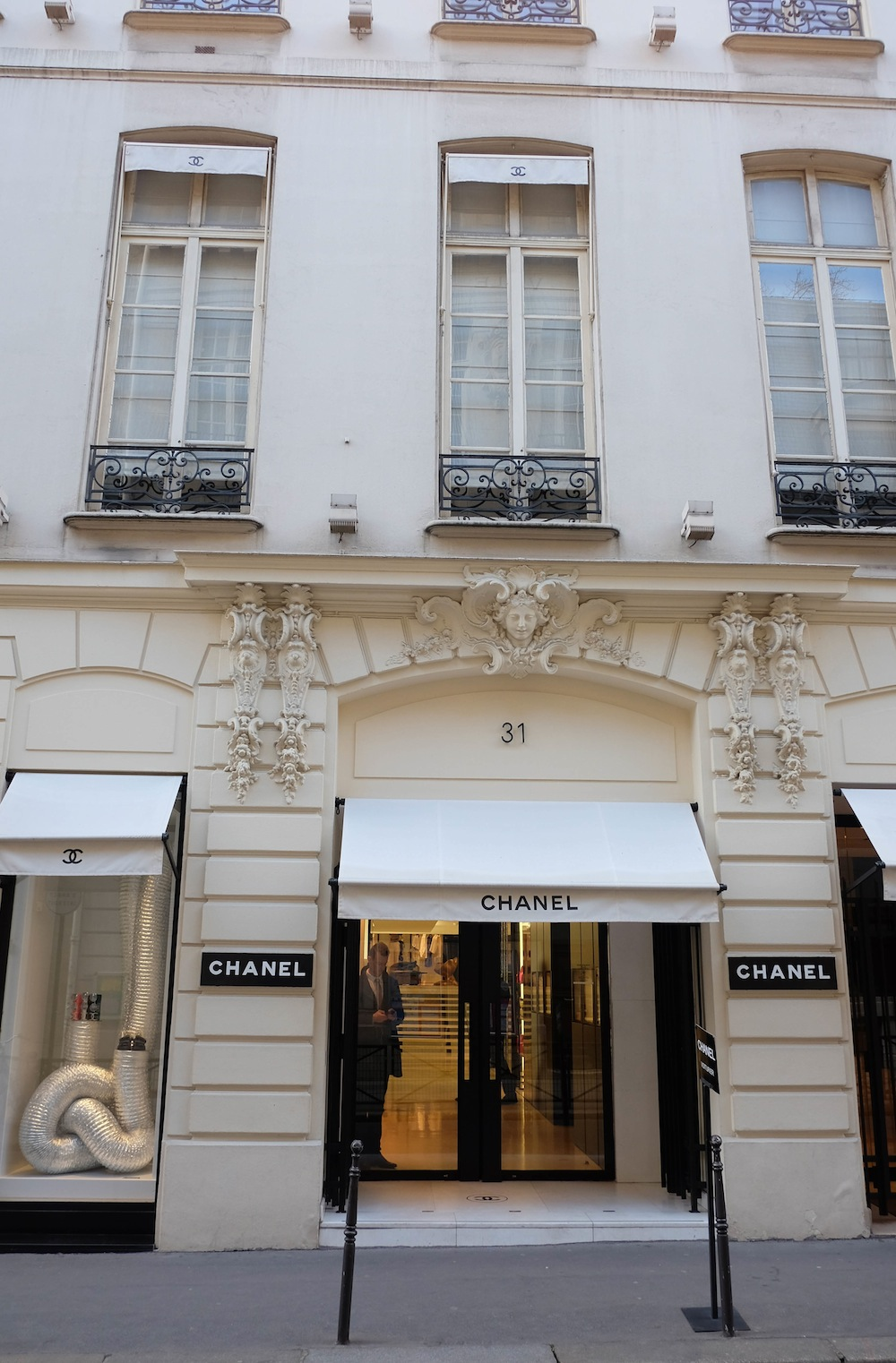 chanel store in paris // 48 hours in Paris, The Stripe
