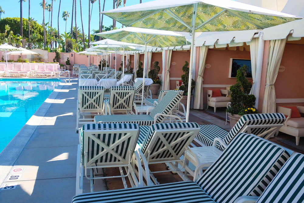 Beverly Hills Hotel Pool And Cabanas