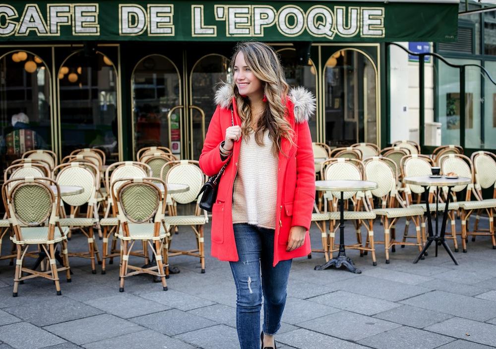 cute + cozy outfit idea for paris | grace atwood, the stripe