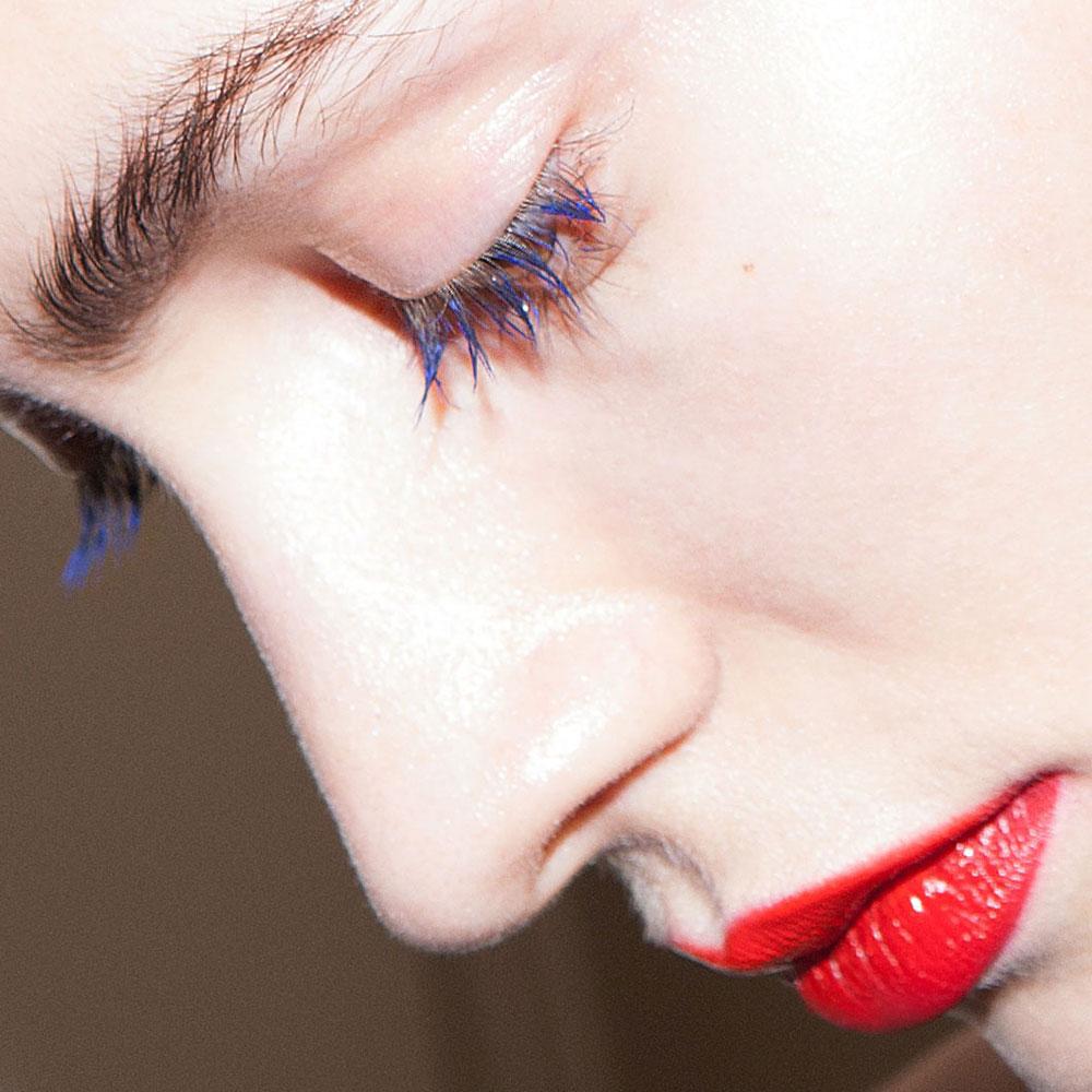 best nyfw fall 2017 beauty trends | jason wu blue mascara