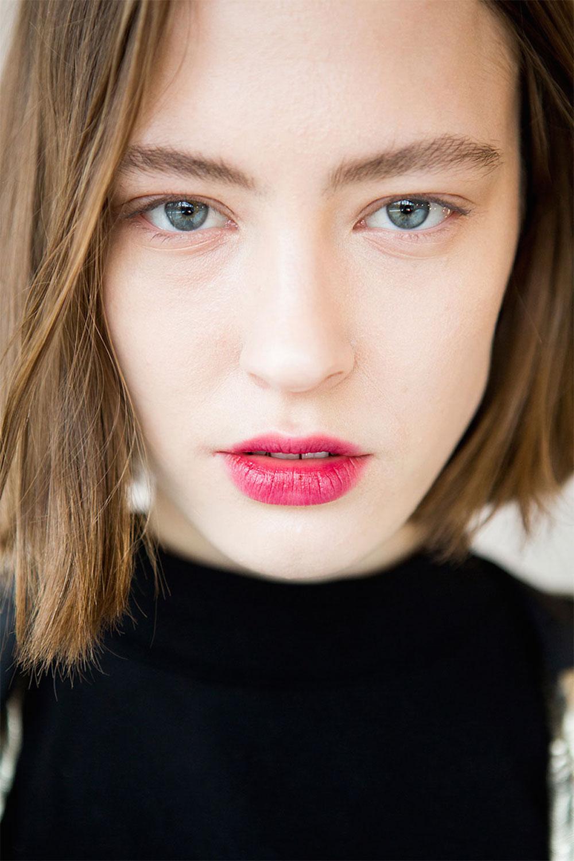 best nyfw fall 2017 beauty trends | public school stained lips