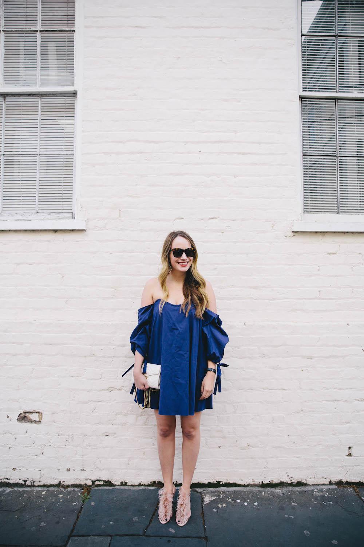 caroline constas gabriella off-the-shoulder bustier shift dress | grace atwood, the stripe