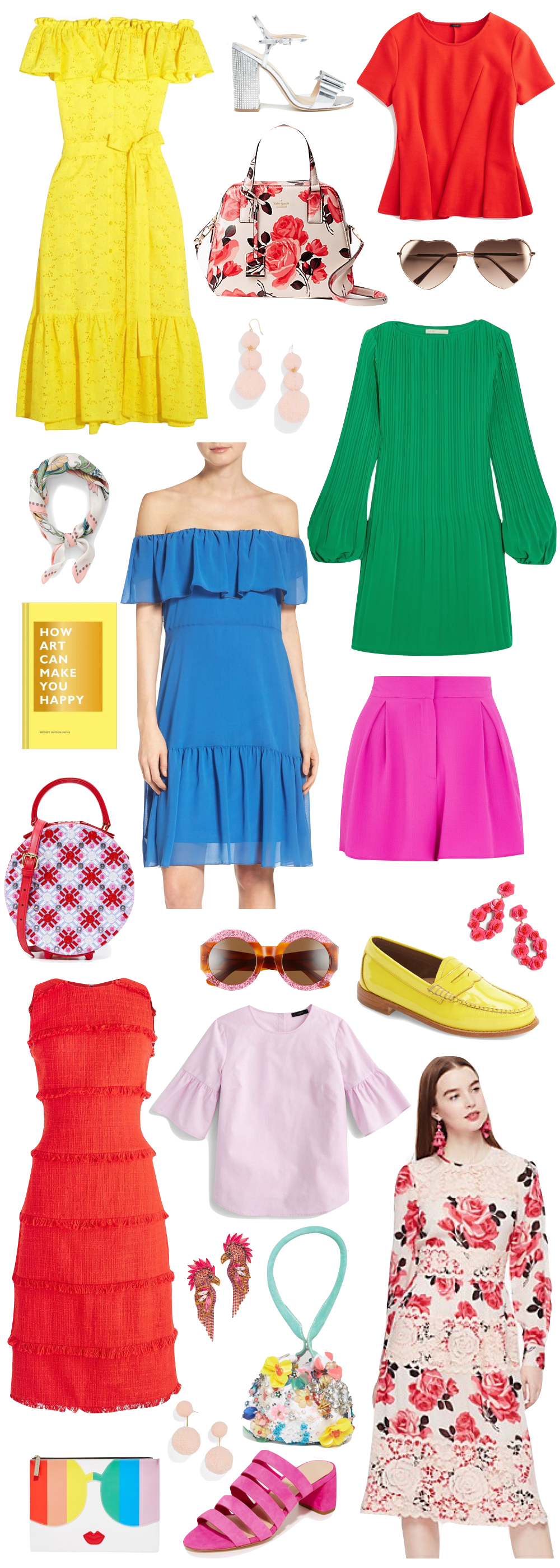 the best colorful style for spring // the stripe
