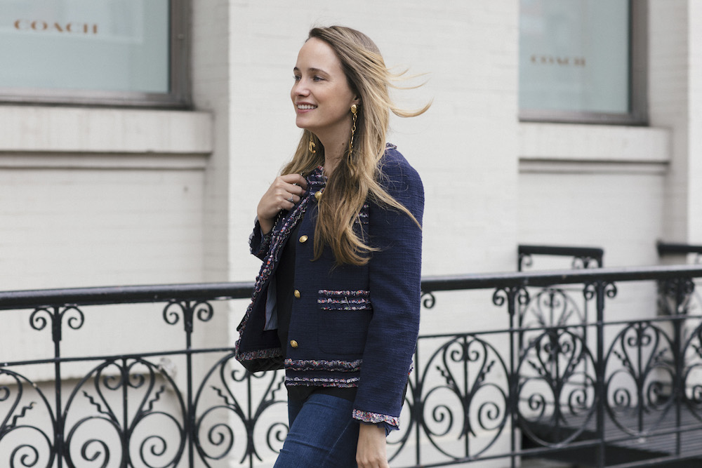 j.crew lady jacket with liberty trim + how i get the news // grace atwood, the stripe