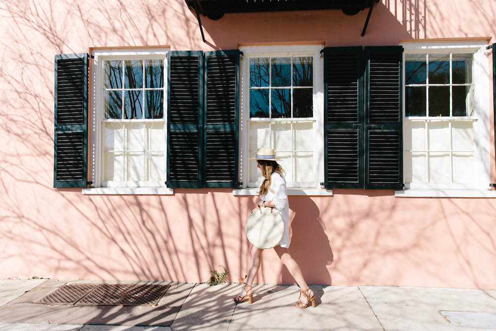 joie tabara dress, joie banji sandals in charleston, sc | grace atwood, the stripe