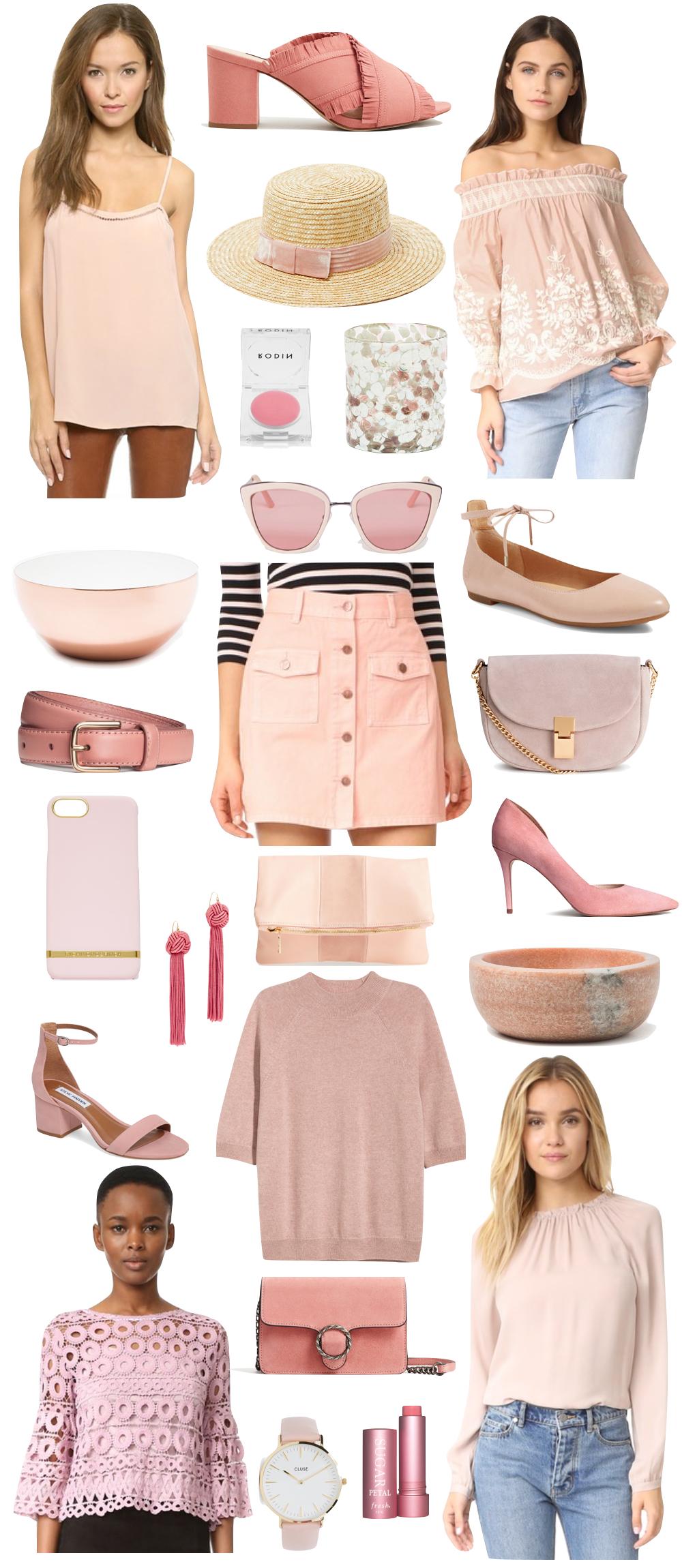 millennial pink pinks under $100 | the stripe