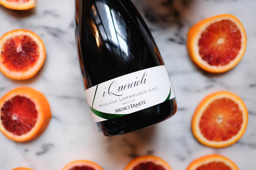 winter frosé recipe with lambrusco