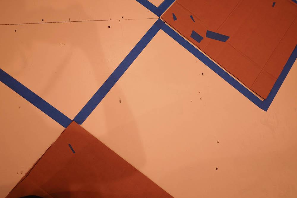 DIY checkerboard floor tutorial | The Stripe
