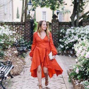 Caroline Constas Red Dress.