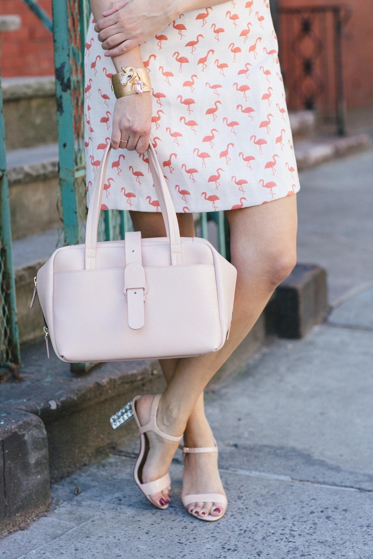 hutch lena dress, candyshop vintage unicorn cuff | grace atwood, the stripe