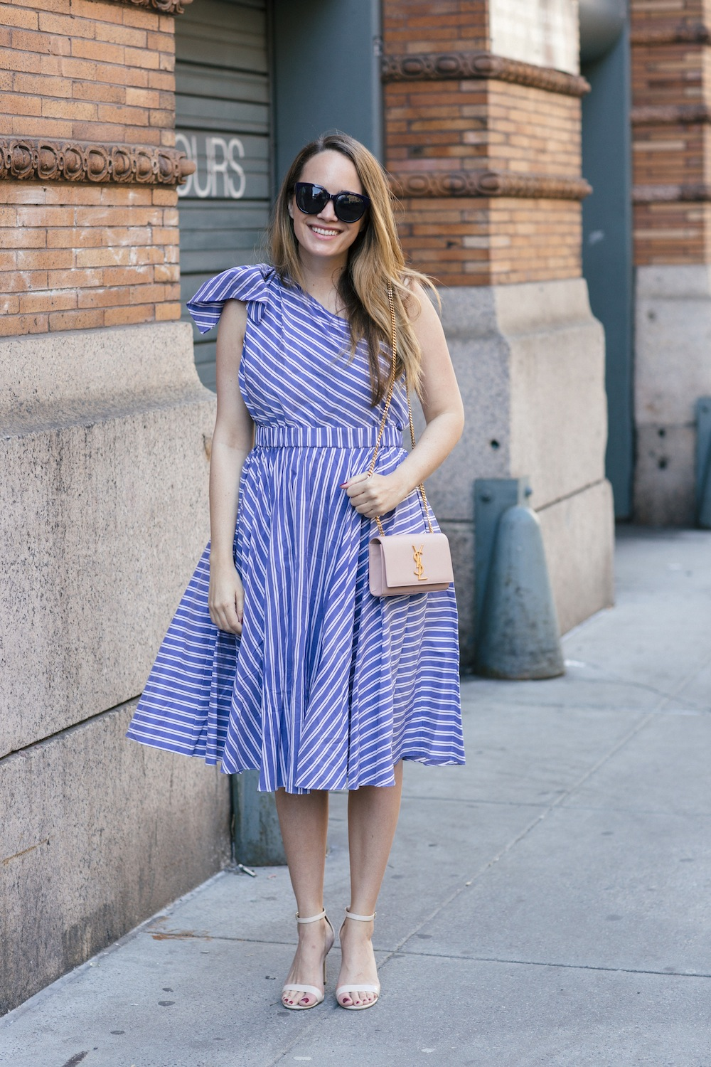 milly one shoulder stripe dress | grace atwood, the stripe