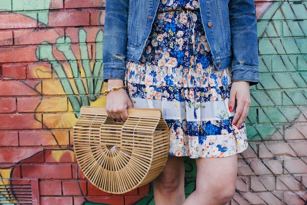 rebecca taylor floral dress, cult gaia gaia's ark bag | grace atwood, the stripe