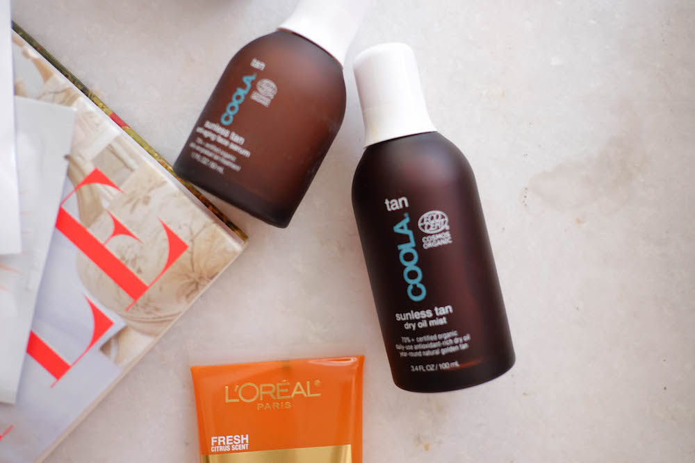 my favorite self tanners | The Stripe (coola organic self-tanner)