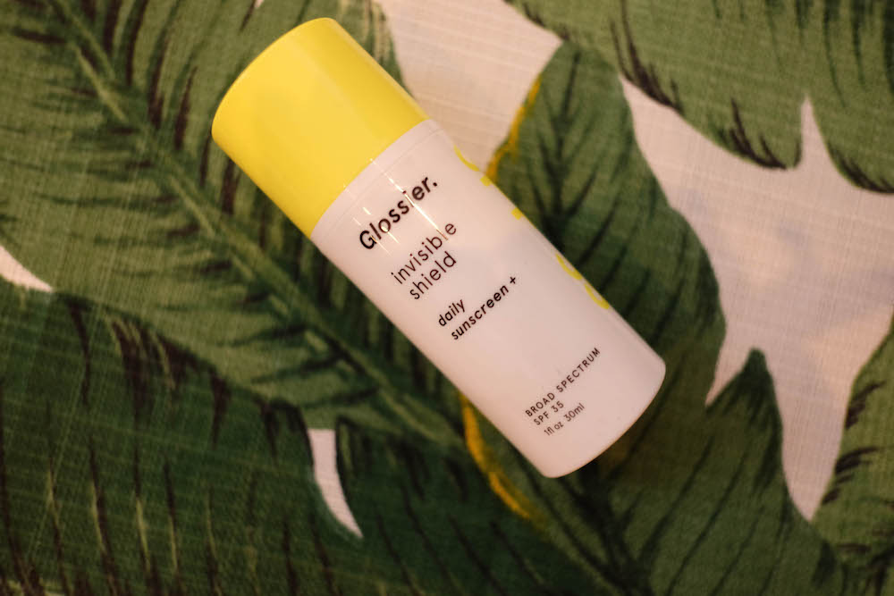 glossier invisible shield review | daily sunscreen SPF 35 | The Stripe
