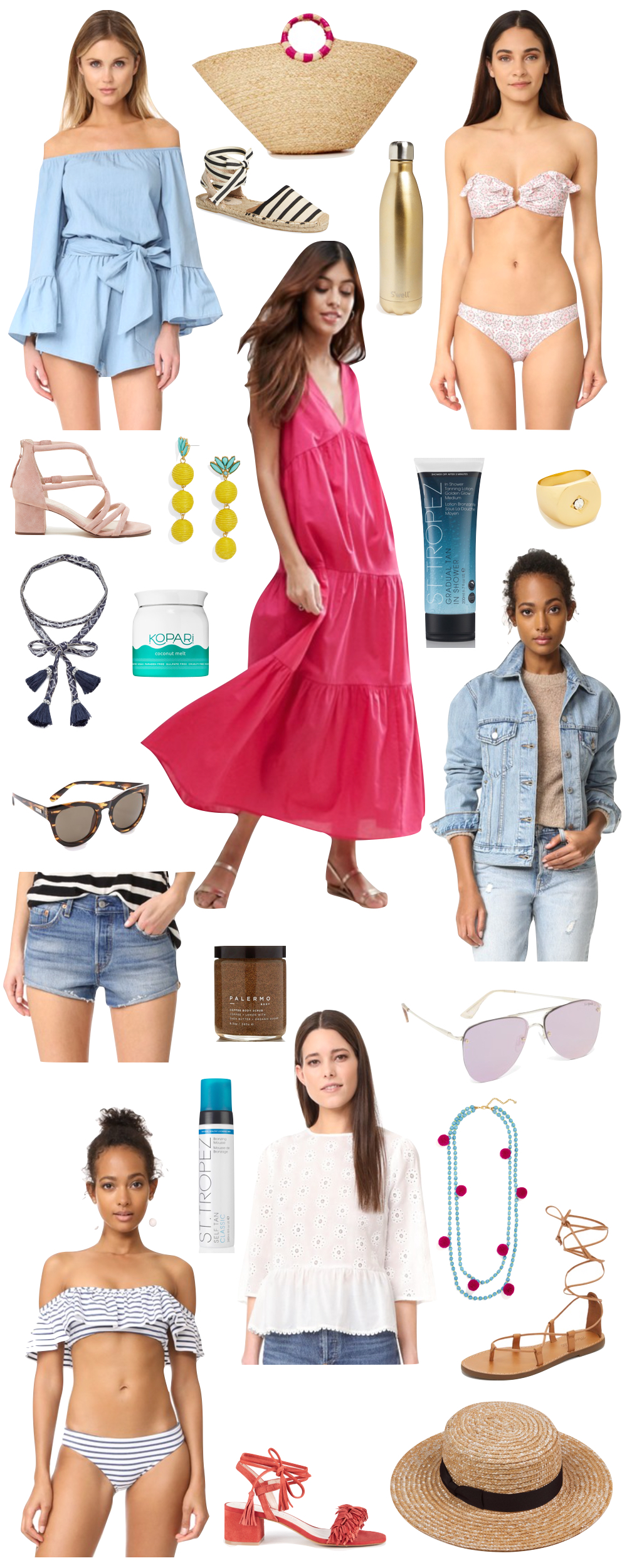 kelly's chic under $100 - beach vacation | the stripe