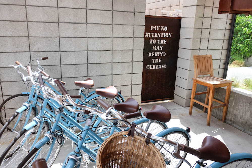 palm springs travel guide - the stripe; arrive hotel bicycles