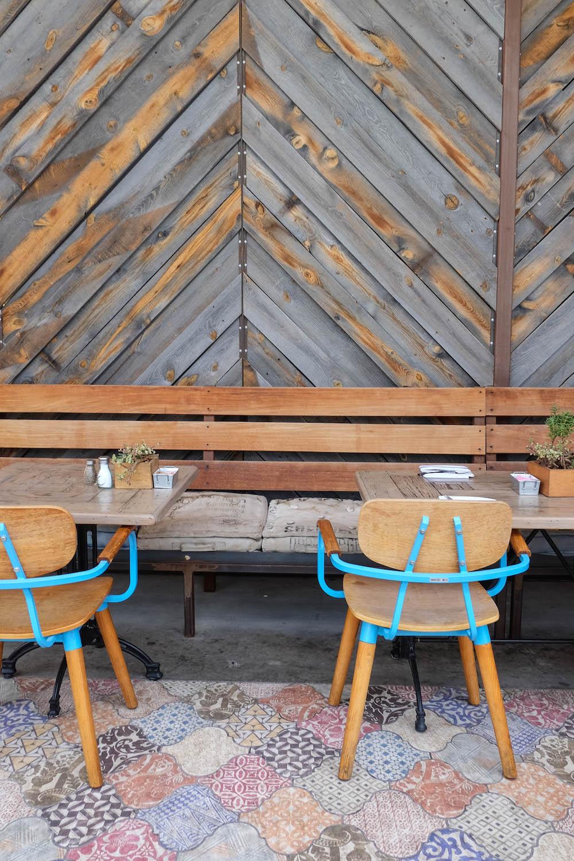 palm springs travel guide - the stripe; arrive hotel reservoir restaurant cool tile floors