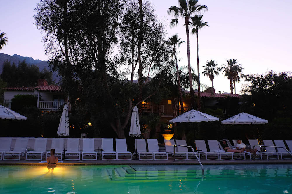 palm springs travel guide - the stripe; colony palms hotel