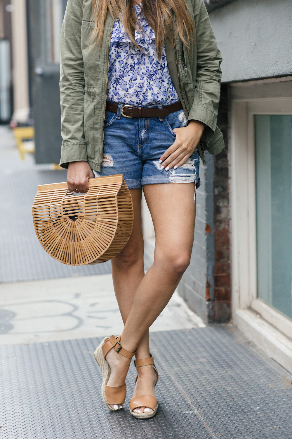 5963313e992eb ... Shorts (mine are a few years old but this is the new version – more  options here and here)    J.Crew Corsica Espadrilles    Cult Gaia Bag (I  have the ...