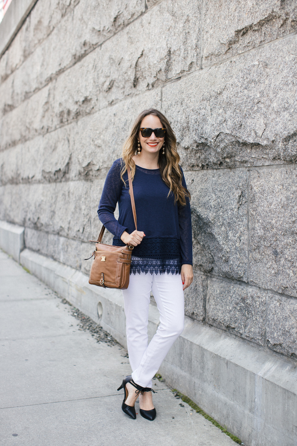 easy spring basics with style & co / how to style white jeans | the stripe