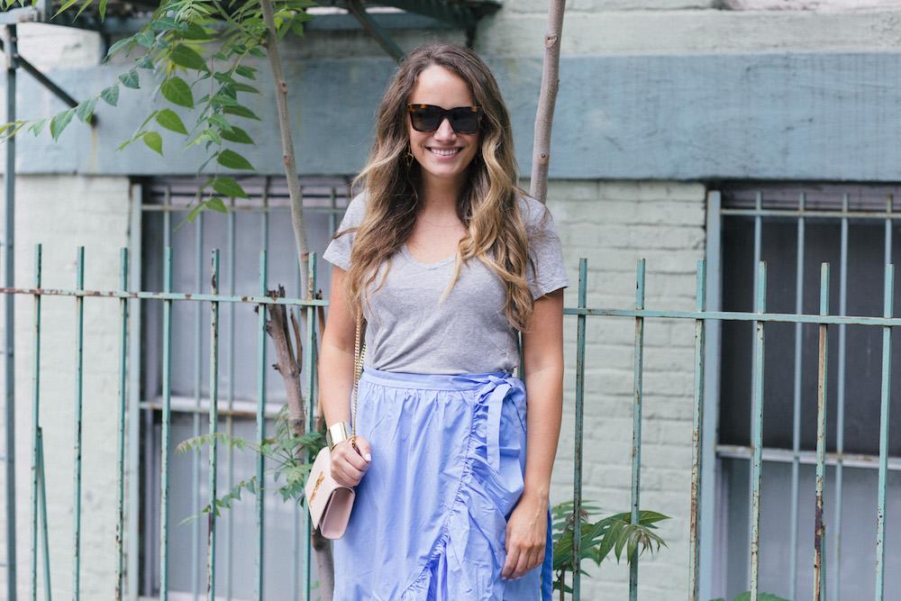 J.Crew Ruffle Wrap Skirt | The Stripe