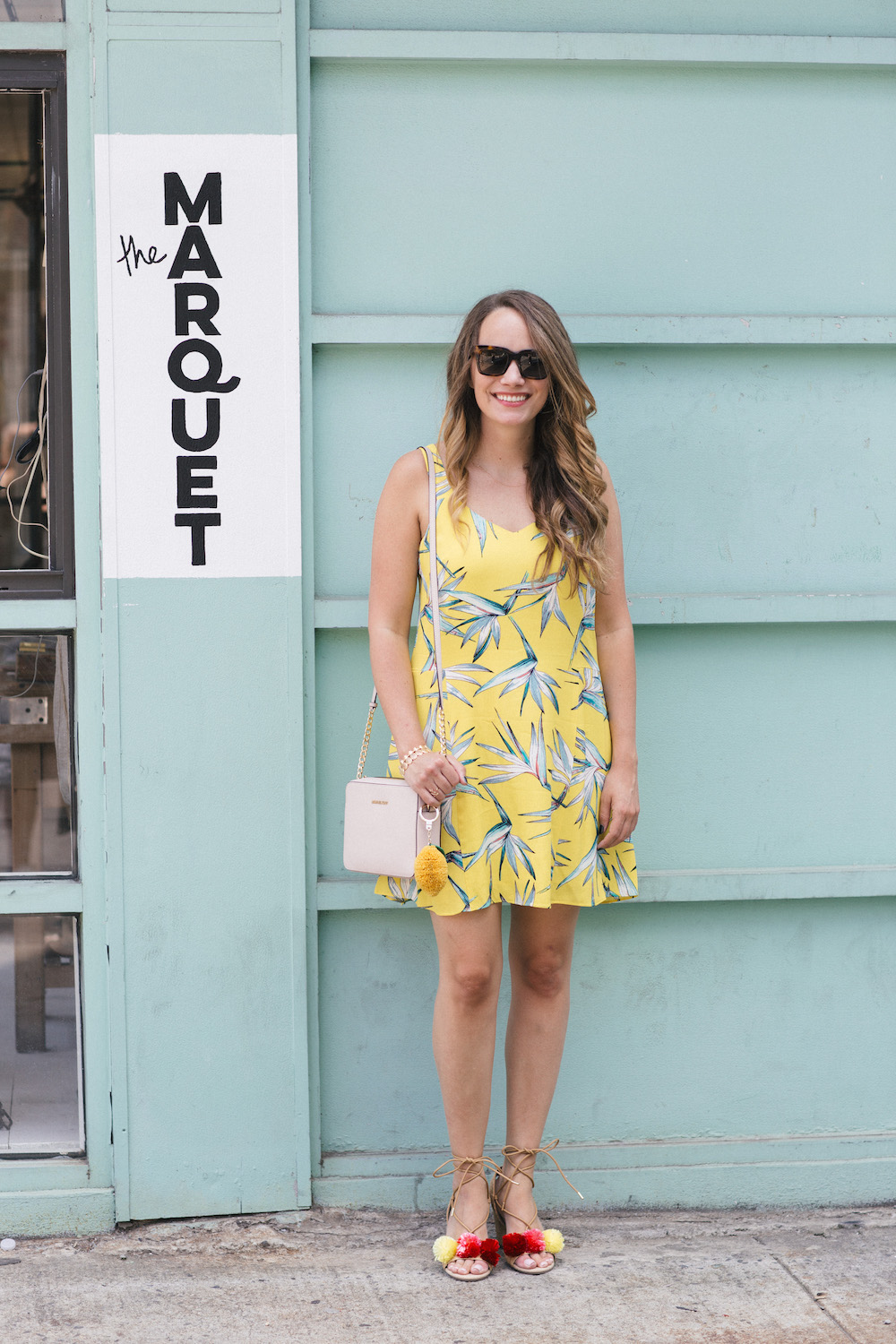 bright summer outfit ideas | the stripe, grace atwood