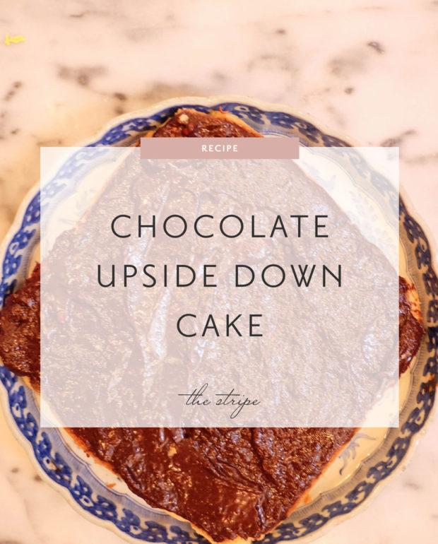 chocolate upside down cake recipe
