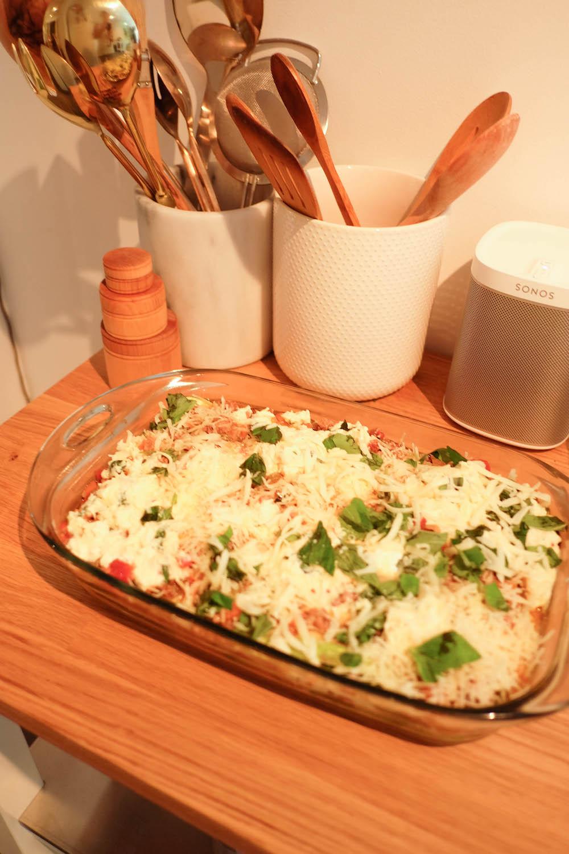 chrissy teigen zucchini lasagna bolognese recipe   the stripe