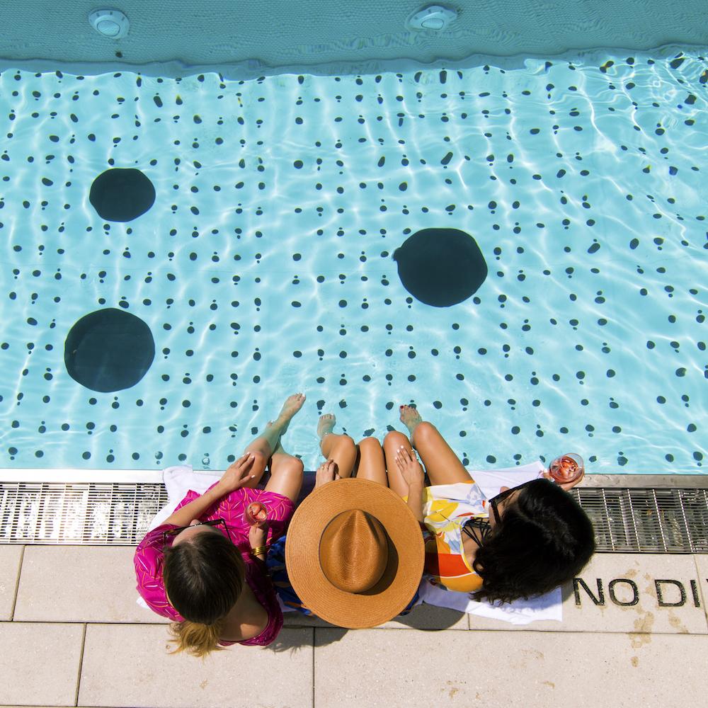 cooper & ella x dream hotels | swim cover-ups | grace atwood, the stripe