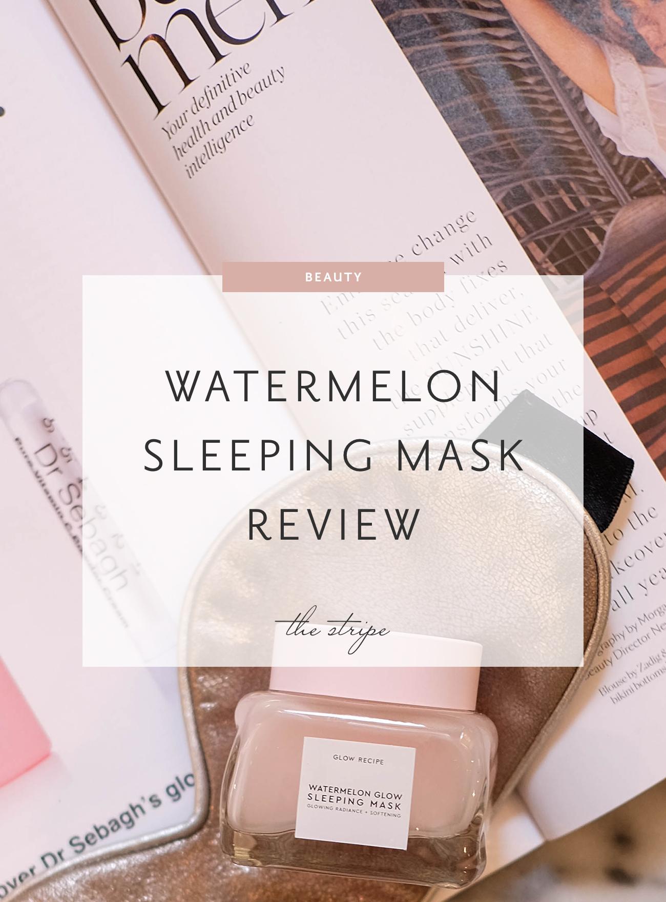Watermelon Glow Sleeping Mask by glow recipe #9