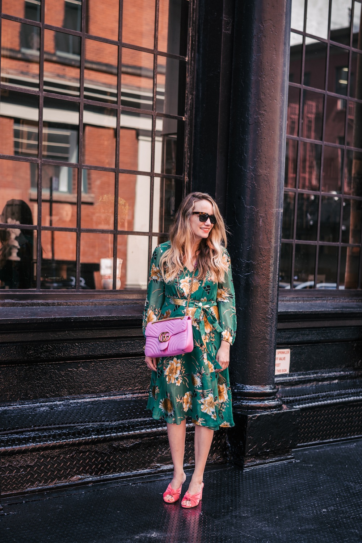 Alice Olivia Coco Plunging Midi Dress Loeffler Randall