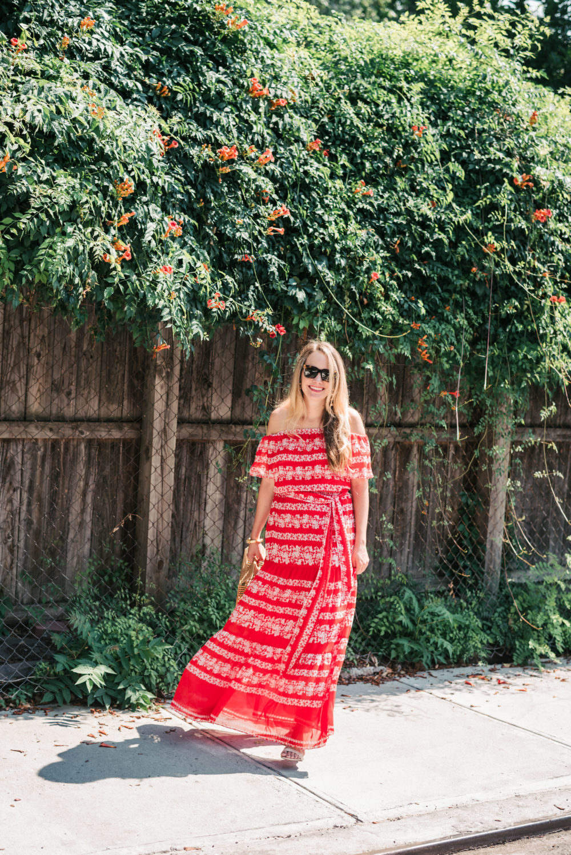eliza j off the shoulder maxi dress | grace atwood, the stripe