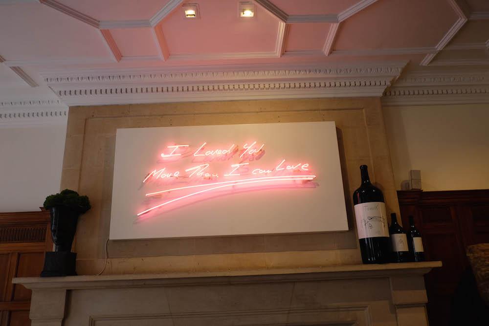 london travel diary - the stripe - hix mayfair, tracey emins neon art