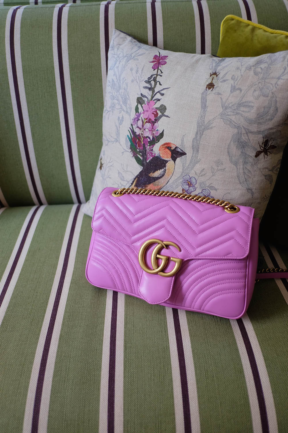 london travel diary - the stripe - gucci marmont bag